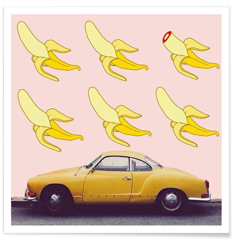 Bananes, Voitures, Pop Art, bananas also hide terrible secrets affiche