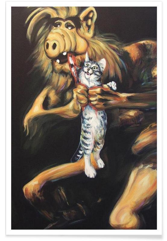 Alf Devouring His Cat affiche