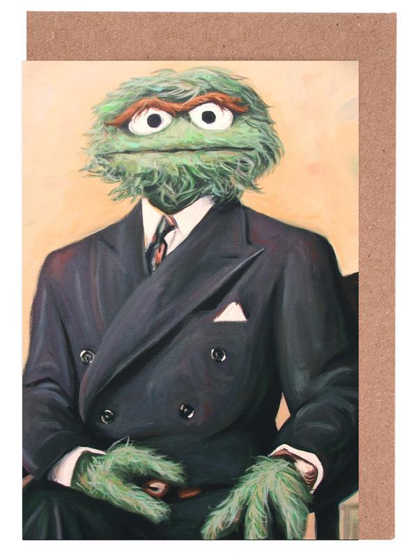 Sir Oscar Grouch Greeting Card Set
