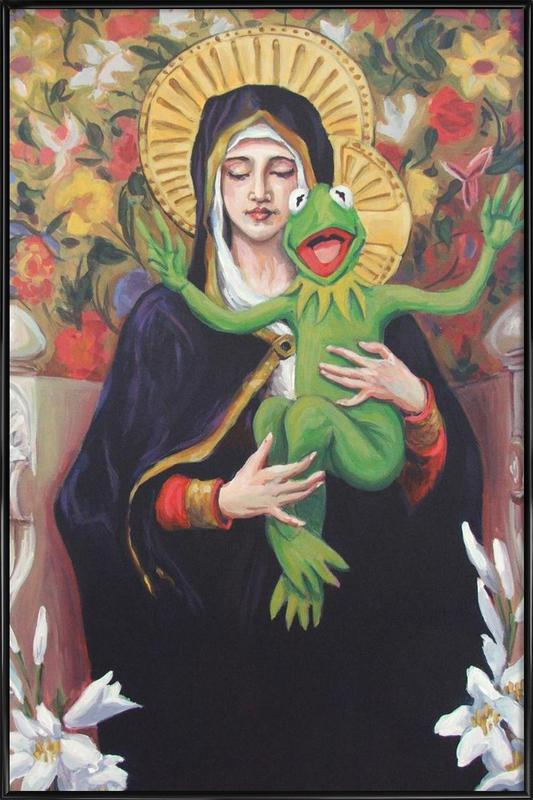 Virgin Of The Lily Pad -Bild mit Kunststoffrahmen