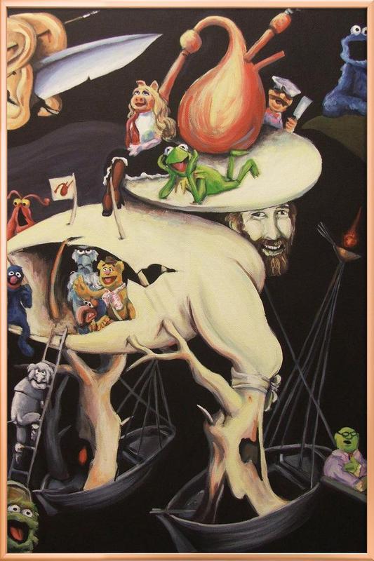 Garden Of Muppetly Delights Poster in Aluminium Frame