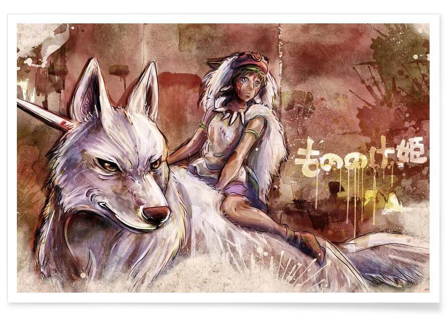 Mononoke the Wolf Girl affiche