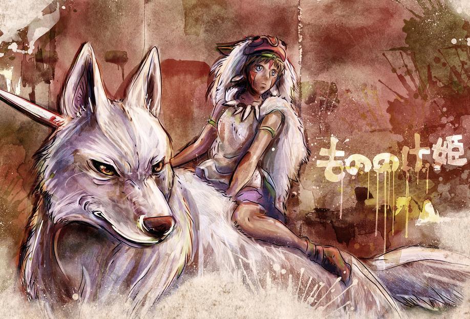 Mononoke the Wolf Girl Acrylic Print