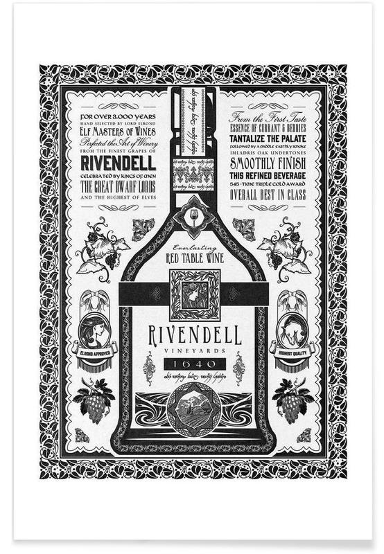 Lord of the Rings Rivendell Vineyards poster