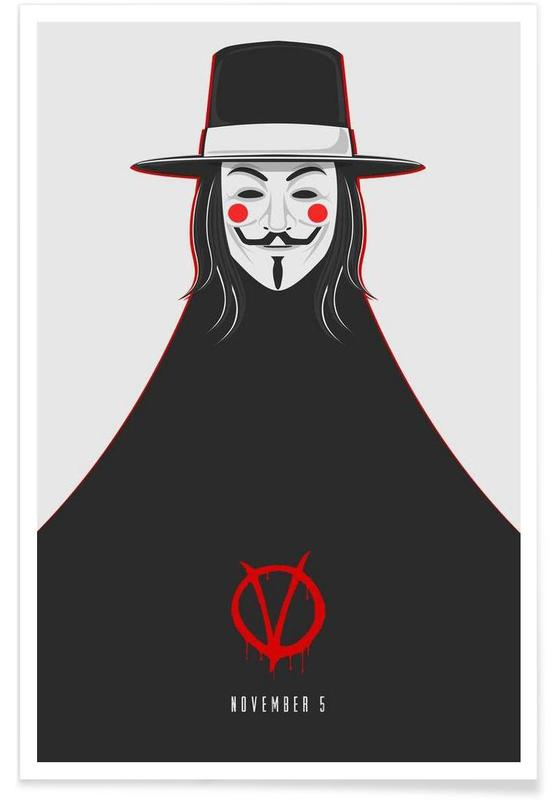 V for Vendetta Minimal November 5 affiche