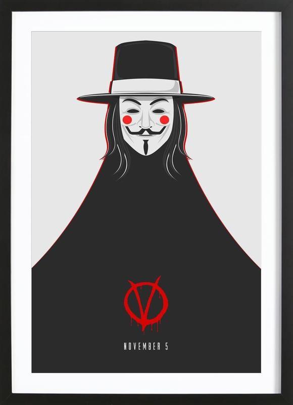 V for Vendetta Minimal November 5 Framed Print