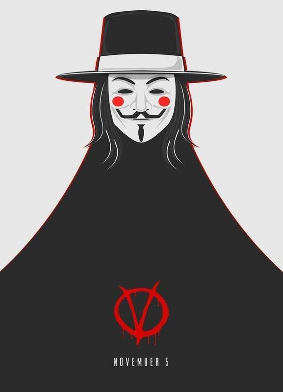V for Vendetta Minimal November 5 Canvas Print