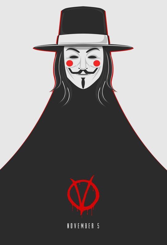 V for Vendetta Minimal November 5 Acrylic Print