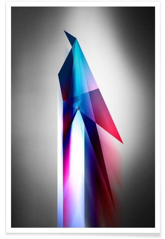 , Origami Futurist Bird affiche