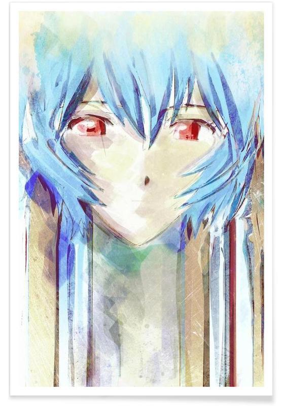 , Evangelion  Ayanami Rei affiche