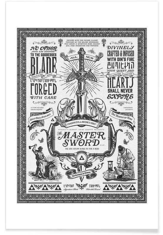 , Master Sword Advertisement poster