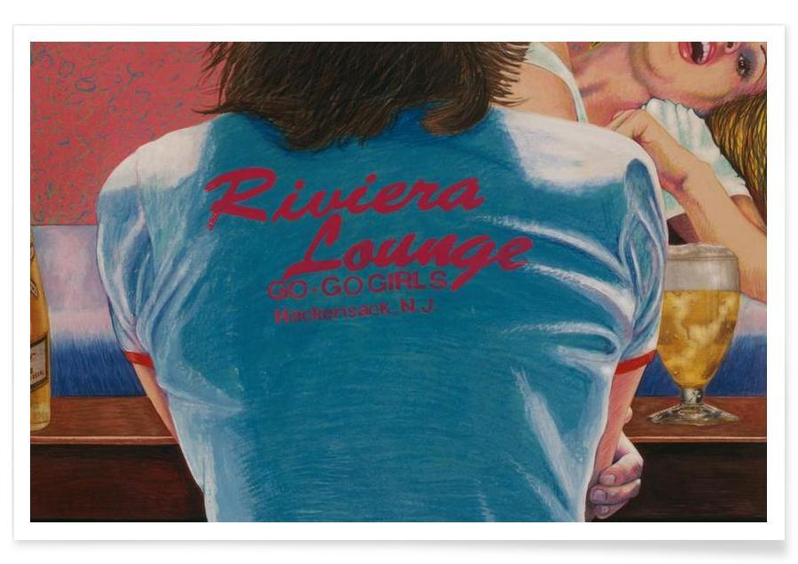 Détails corporels, riviera lounge affiche