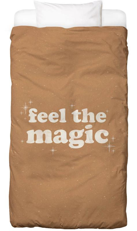 Zitate & Slogans, Motivation, Feel the Magic -Kinderbettwäsche