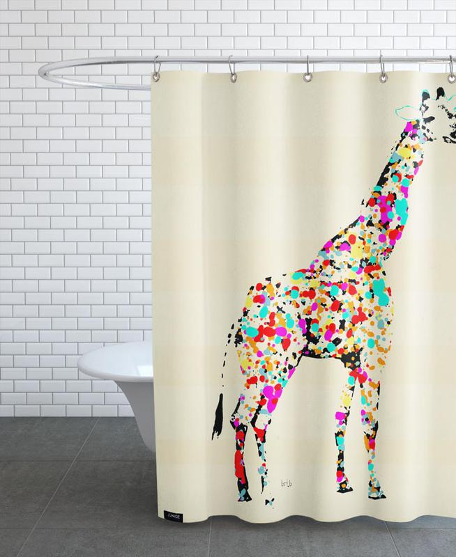 Giraffes, the art giraffe Shower Curtain