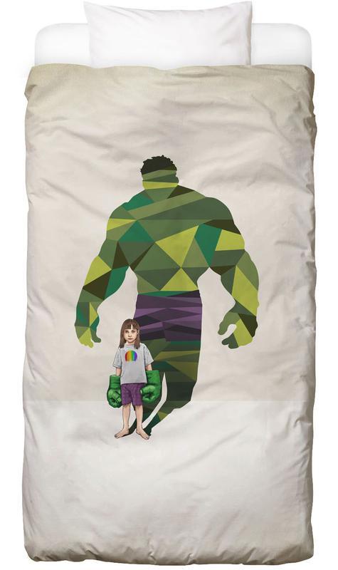 Kinderzimmer & Kunst für Kinder, Super Shadows Girl Smash Bettwäsche