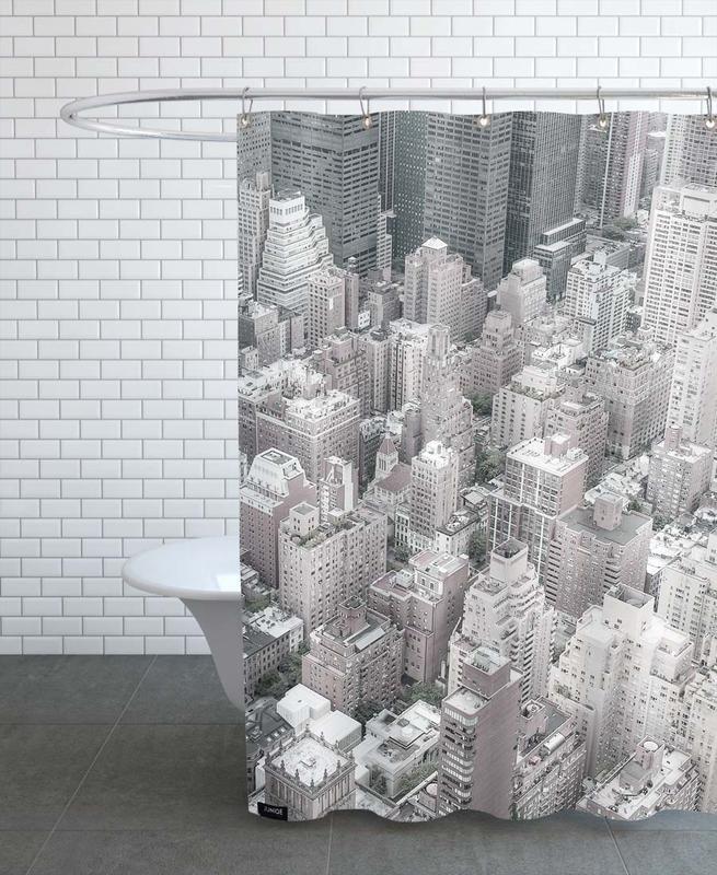New York, Wolkenkratzer & Hochhäuser, Schwarz & Weiß, NYC -Duschvorhang