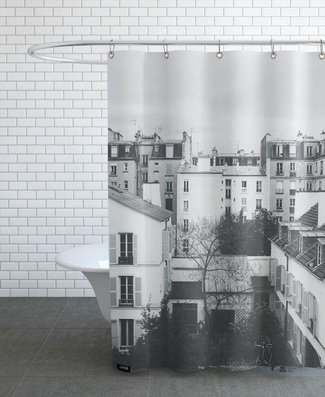 Black & White, Paris, Paris BW Shower Curtain