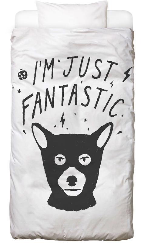 Lustig, Schwarz & Weiß, Füchse, I'm Just Fantastic Bettwäsche