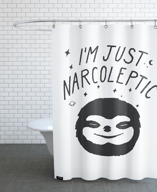 Lustig, Faultiere, Schwarz & Weiß, I'm Just Narcoleptic -Duschvorhang