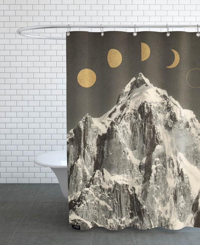 Phases Moon Shower Curtain