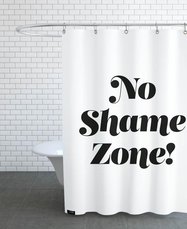 Black & White, Motivational, Quotes & Slogans, No Shame Shower Curtain