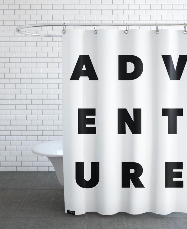 Black & White, Quotes & Slogans, Adventure Shower Curtain