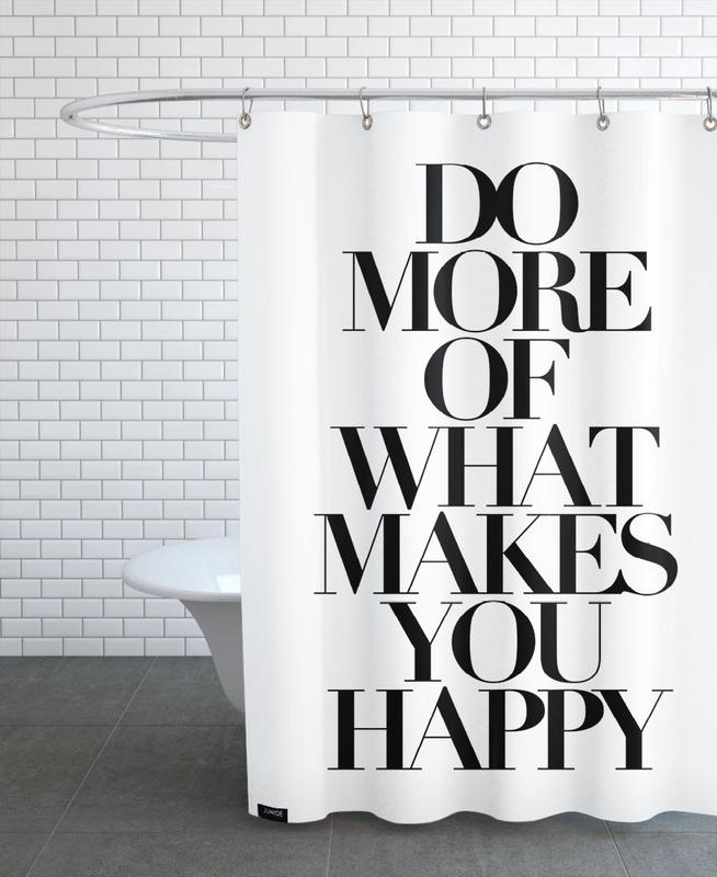 Black & White, Motivational, Quotes & Slogans, do more Shower Curtain