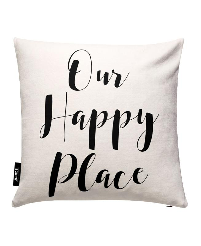 Our Happy Place Cushion Cover