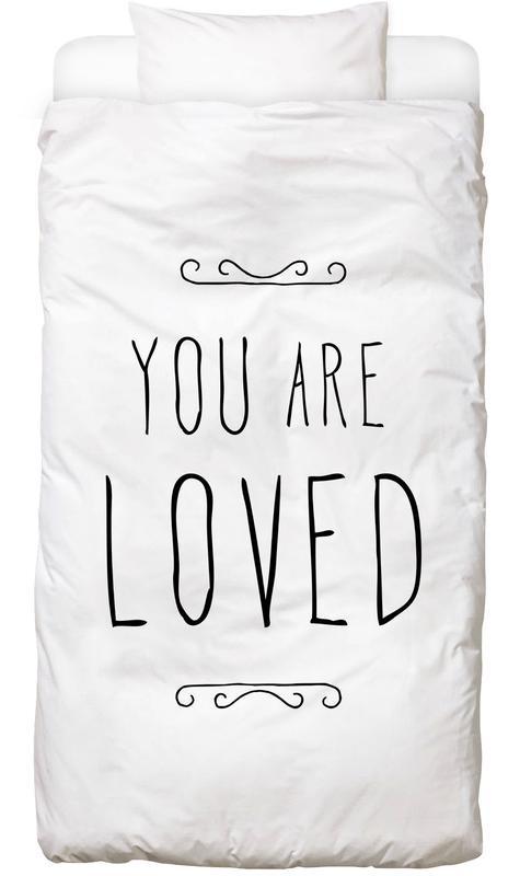 Muttertag, Liebe & Jahrestage, Zitate & Slogans, Valentinstag, Liebeszitate, You Are Loved -Kinderbettwäsche