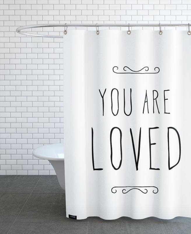 Anniversaires de mariage et amour, Saint-Valentin, Fête des mères, Citations d'amour, Citations et slogans, You Are Loved rideau de douche
