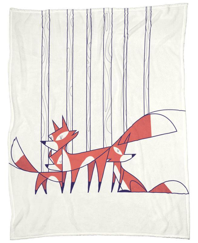 Foxes Fleece Blanket