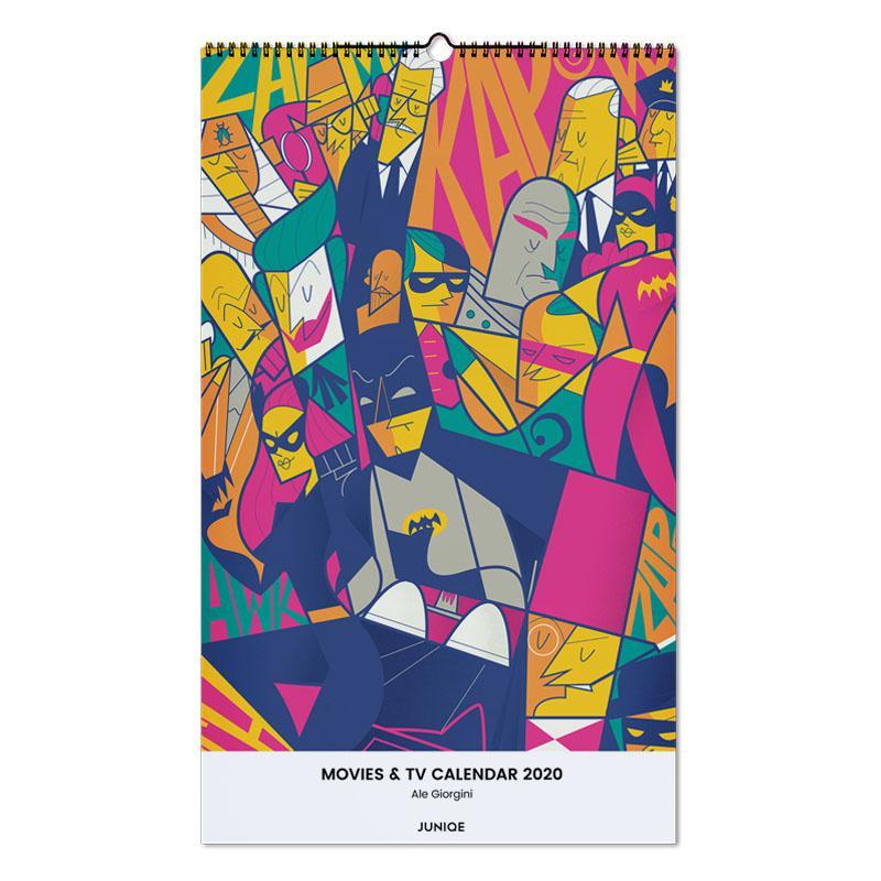 Movies & TV Calendar 2020 - Ale Giorgini Wall Calendar