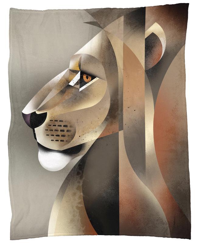 Lion plaid
