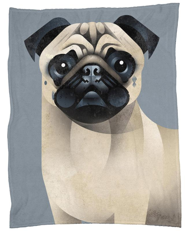 Pug Fleece Blanket
