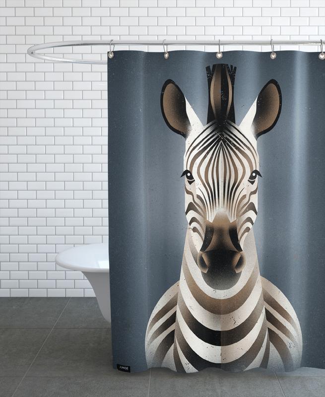 Zebra II -Duschvorhang
