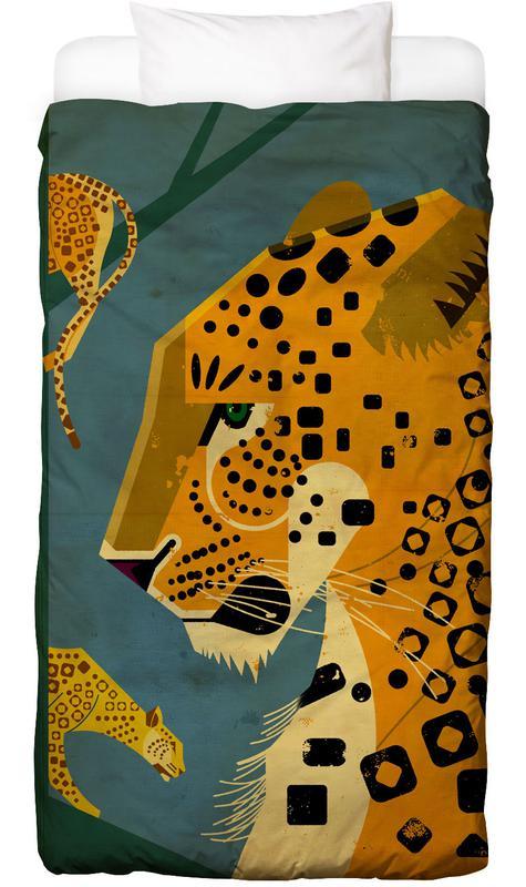 Rétro, Guépards, Leopard Linge de lit