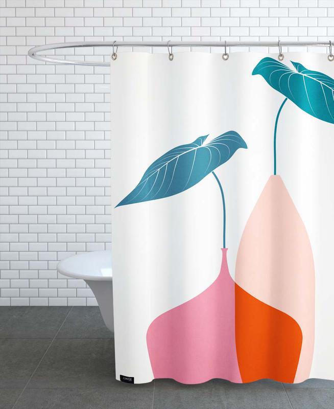 Leaves & Plants, Scandinavian Bouquet Shower Curtain