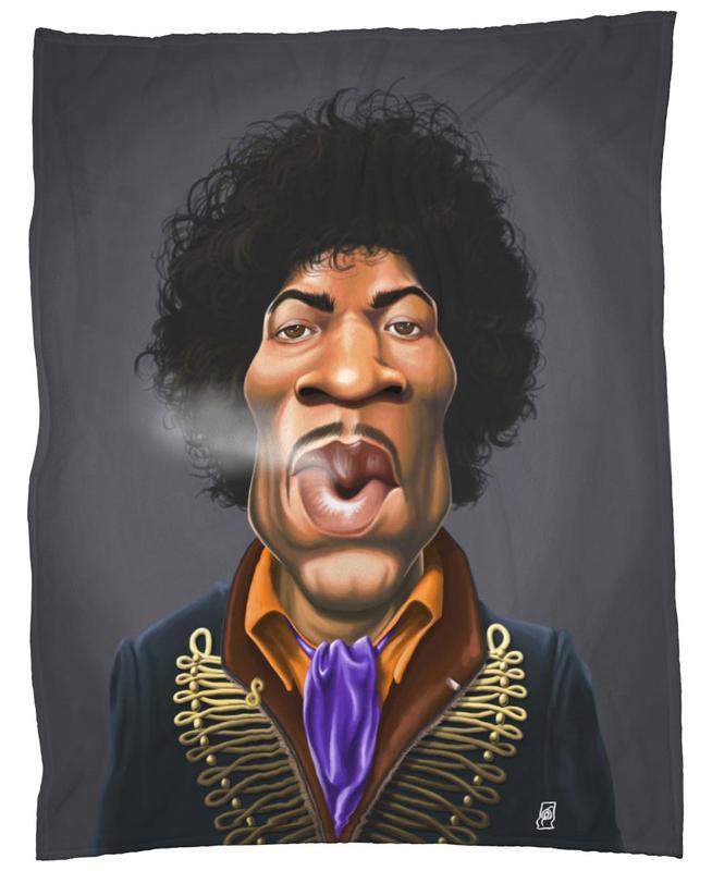 Jimi Hendrix -Fleecedecke