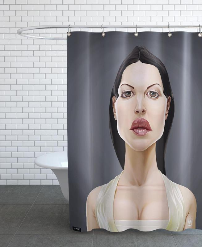Monica Belluci Shower Curtain