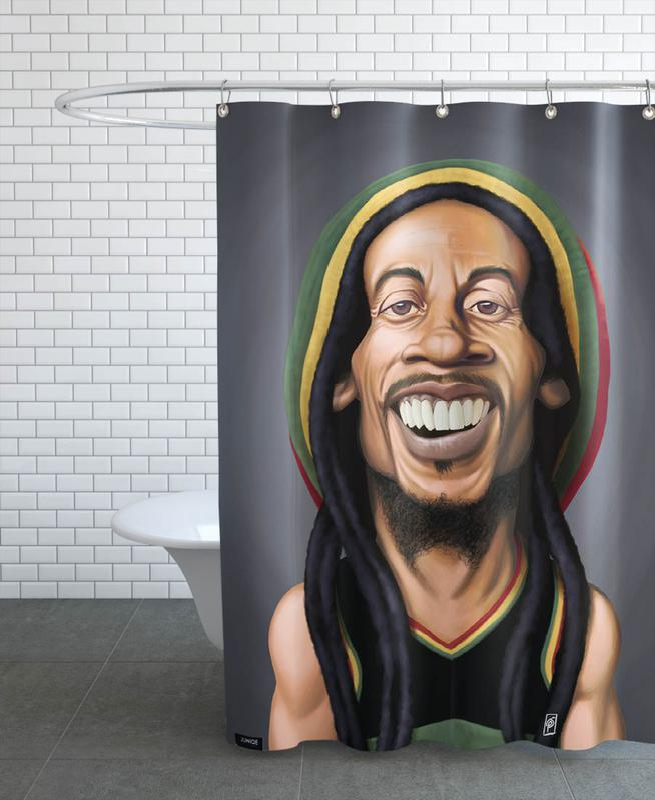 Bob Marley -Duschvorhang