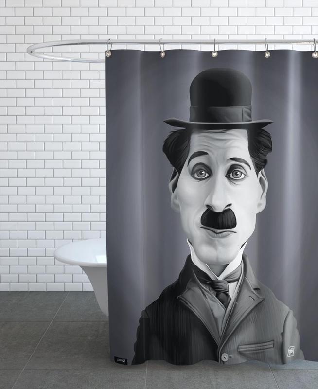 Charlie Chaplin Shower Curtain