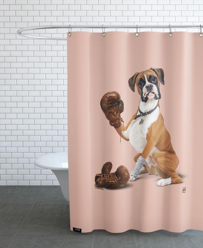 Chiens, The Boxer (Colour) rideau de douche