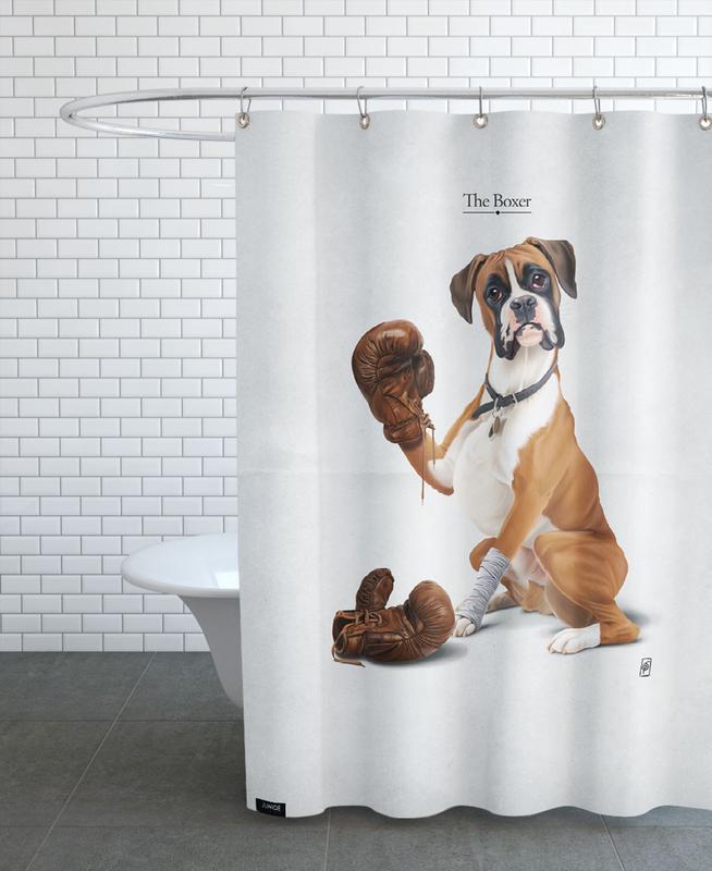 Chiens, The Boxer (Wordless) rideau de douche