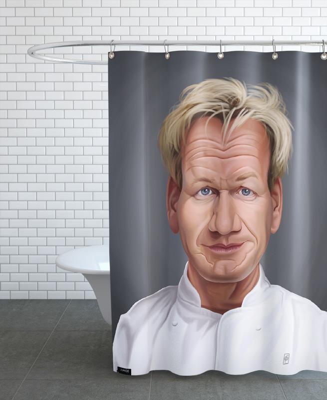 Gordon Ramsay Shower Curtain