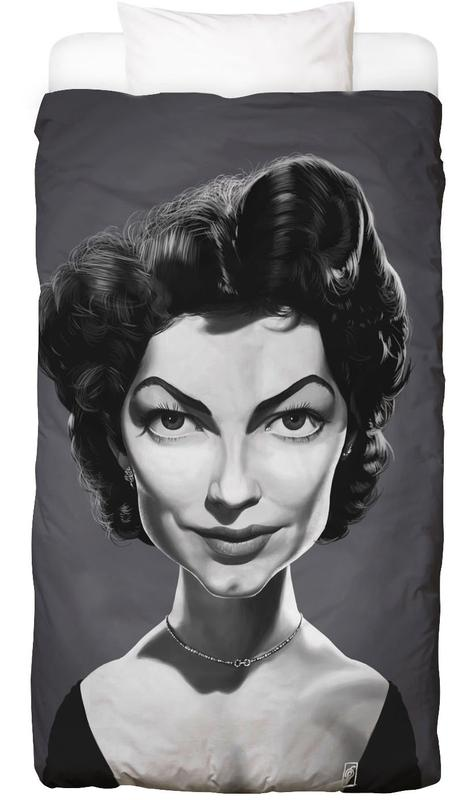 Portraits, Noir & blanc, Ava Gardener Linge de lit