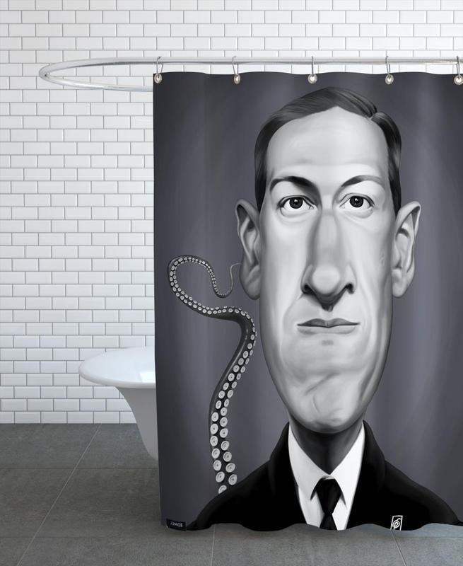 H.P Lovecraft Shower Curtain