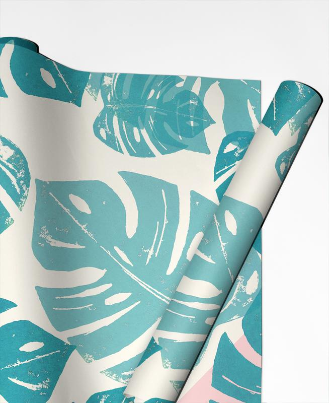 Monstera Rosy Gift Wrap