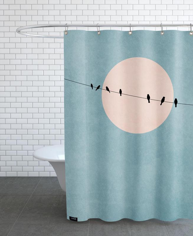 The Beauty of Silence Shower Curtain