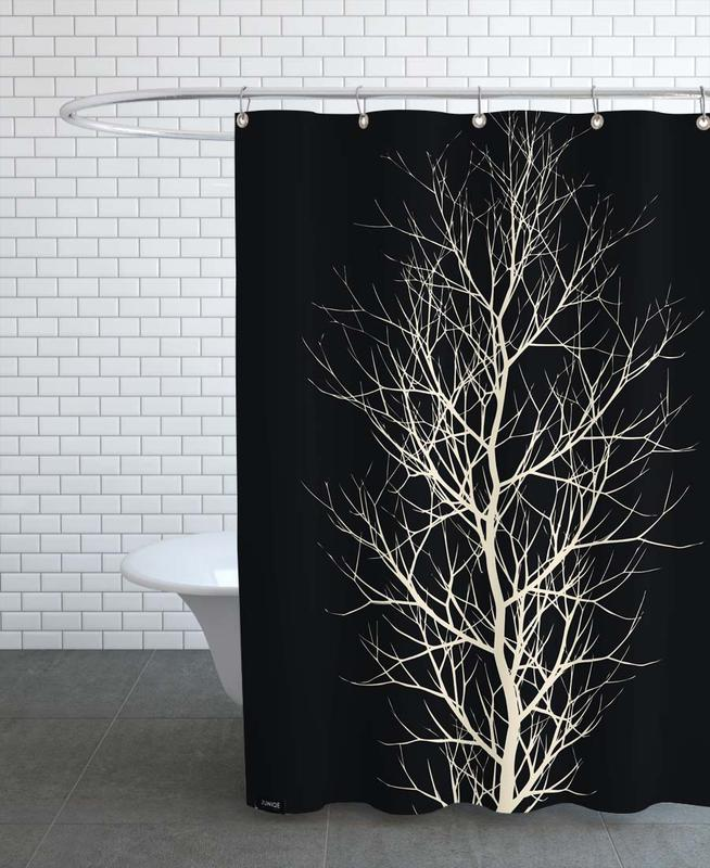 Trees, Black & White, Beauty of Silence Shower Curtain