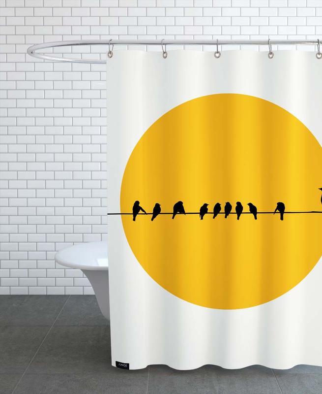 Sonnenuntergänge, Bird Family -Duschvorhang